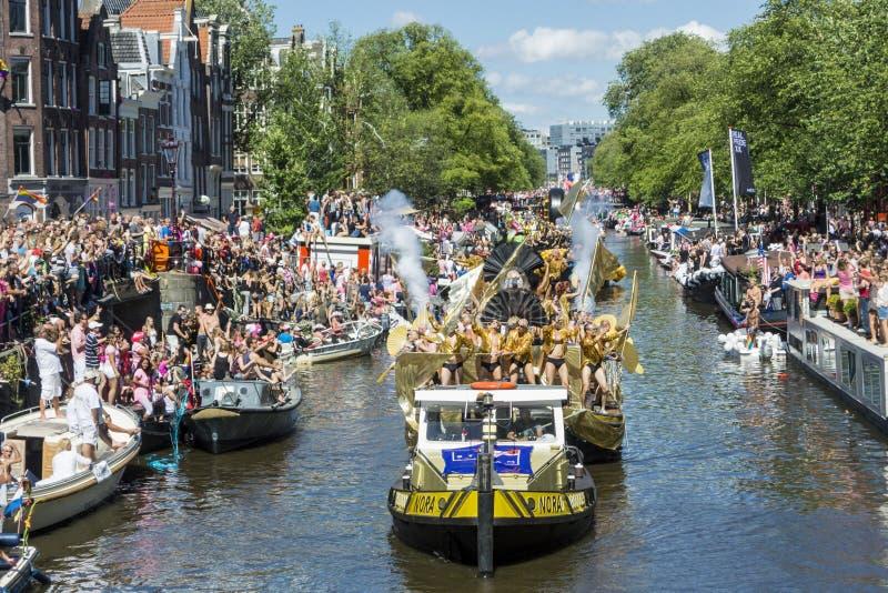 Pride Amsterdam August alegre 2013 fotos de stock royalty free