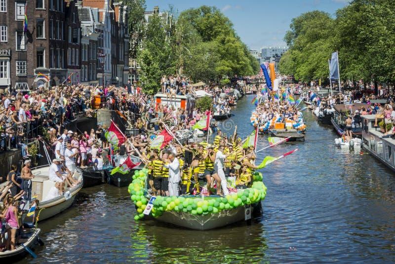 Pride Amsterdam August alegre 2013 fotos de stock