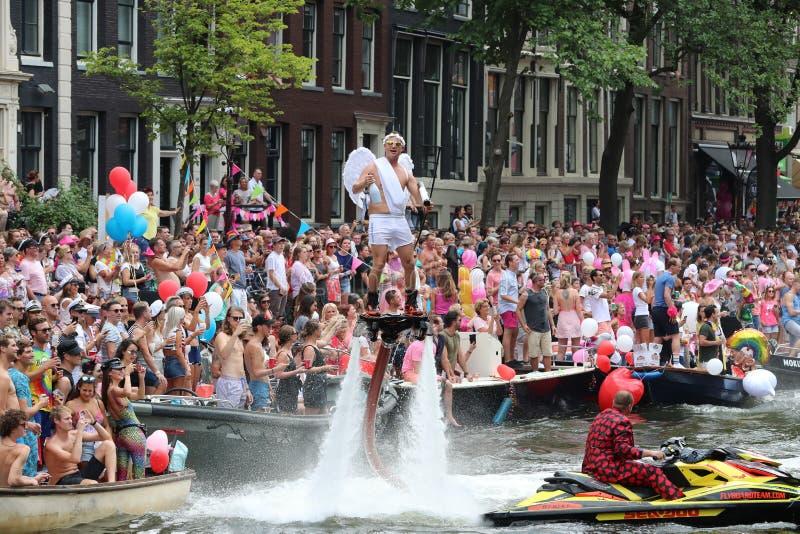 Pride Amsterdam Gaypride royalty-vrije stock afbeelding