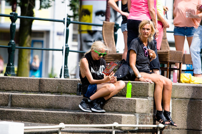 Pride Canal Parade Amsterdam gai 2014 images stock