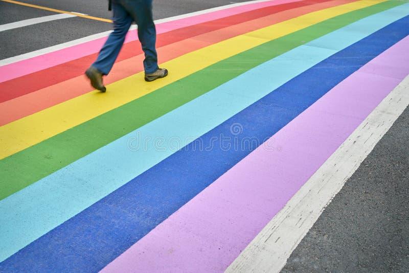 Pride Crosswalk, Vancouver lizenzfreies stockbild