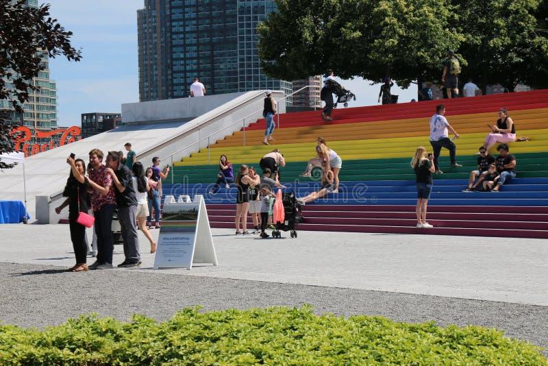 Pride Flag gigante imagens de stock royalty free