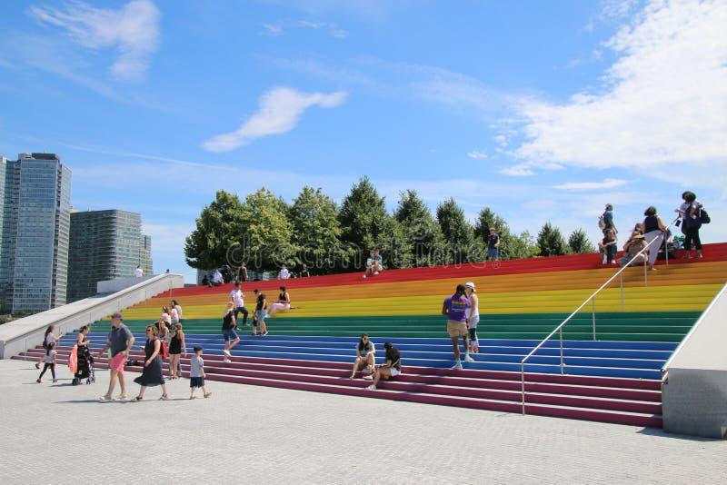 Pride Flag gigante fotos de stock royalty free