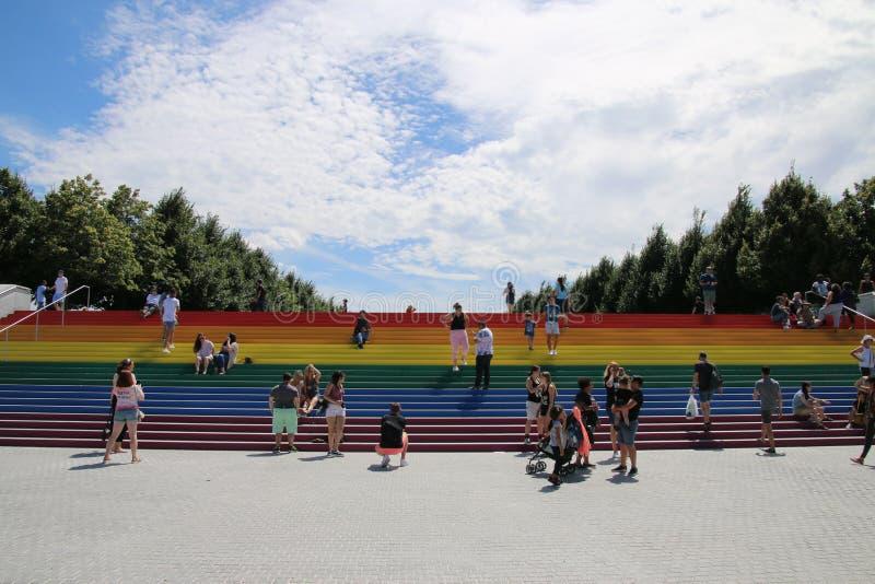 Pride Flag gigante fotografia stock libera da diritti