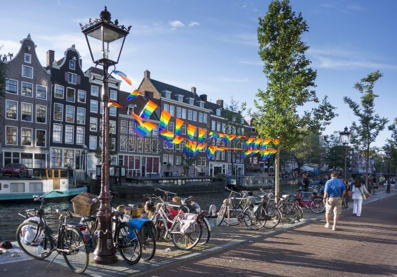 Pride Flags alegre imagem de stock