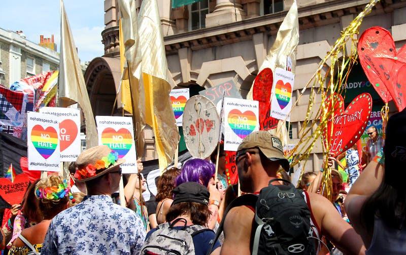 Pride Goers in Brighton. People enjoying a pride parade in Brighton stock image