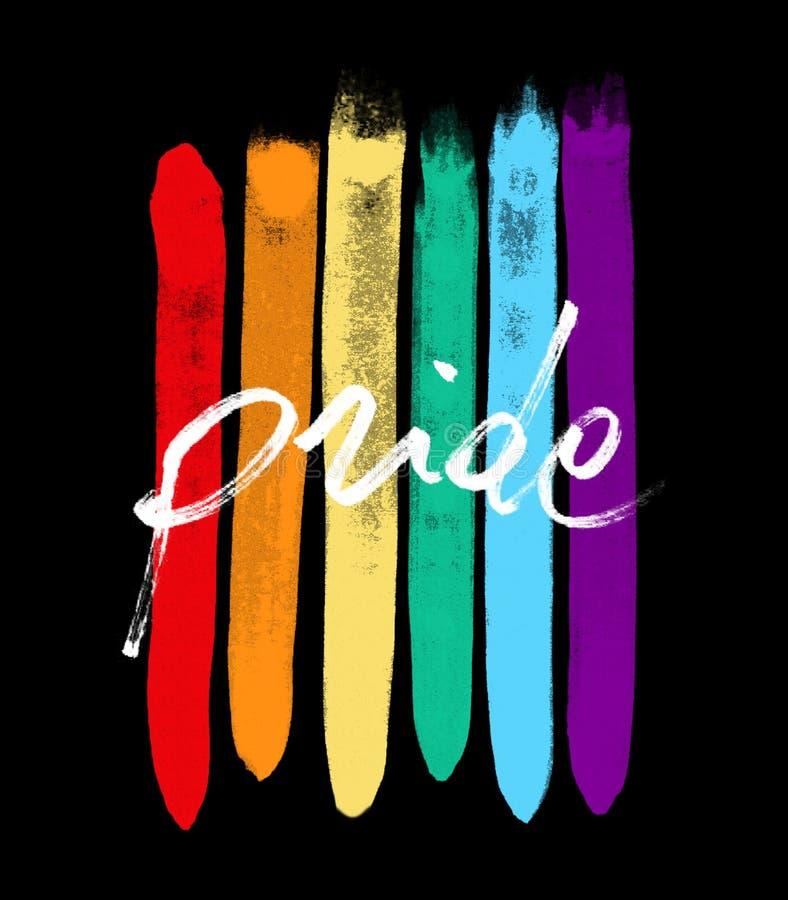 Pride. Illustration. A LGBTQIA flag stock images