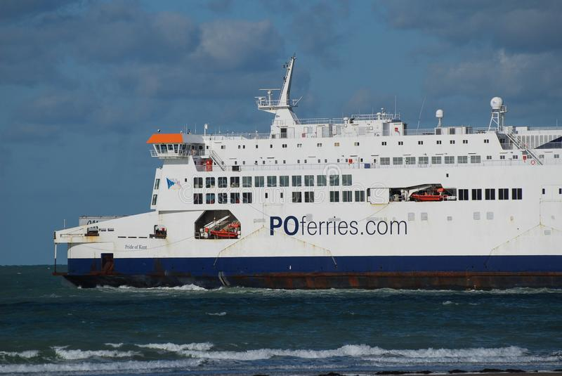 Pride of Kent Cross Channel Ferry stock image