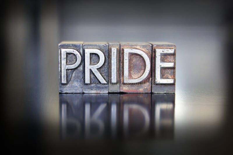 Pride Letterpress stock afbeeldingen