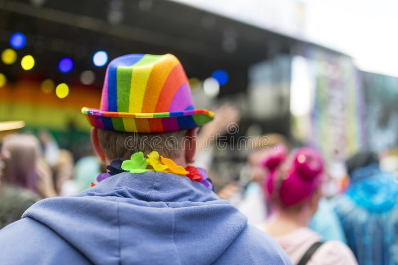 Pride LGBT Festival and concert stock photo