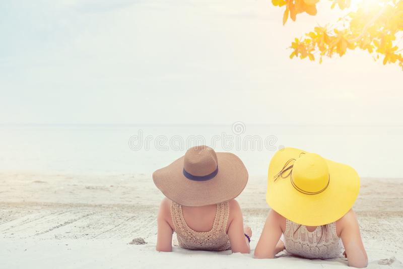 Pride and the LGBTQ+ on summer beach. stock images