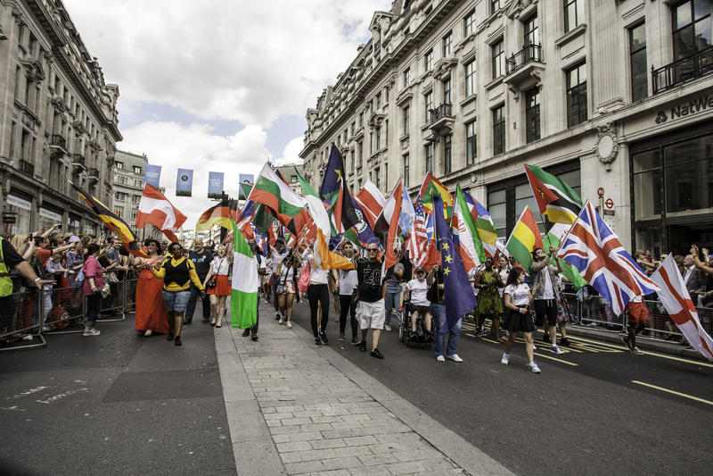 Pride London alegre 2014 foto de stock