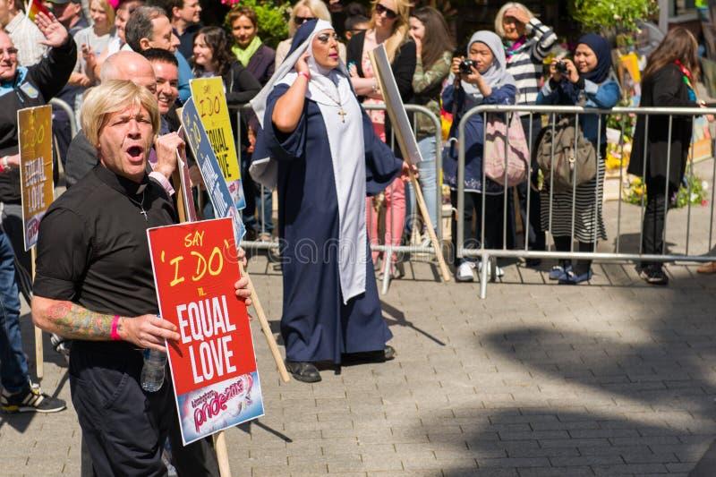 Pride Parade 2013, Birmingham stockfotografie