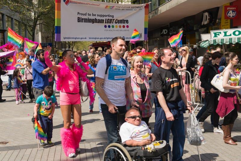 Pride Parade 2013, Birmingham foto de archivo