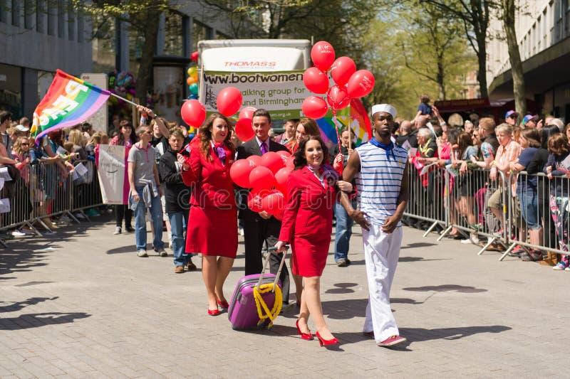 Pride Parade 2013, Birmingham fotografía de archivo