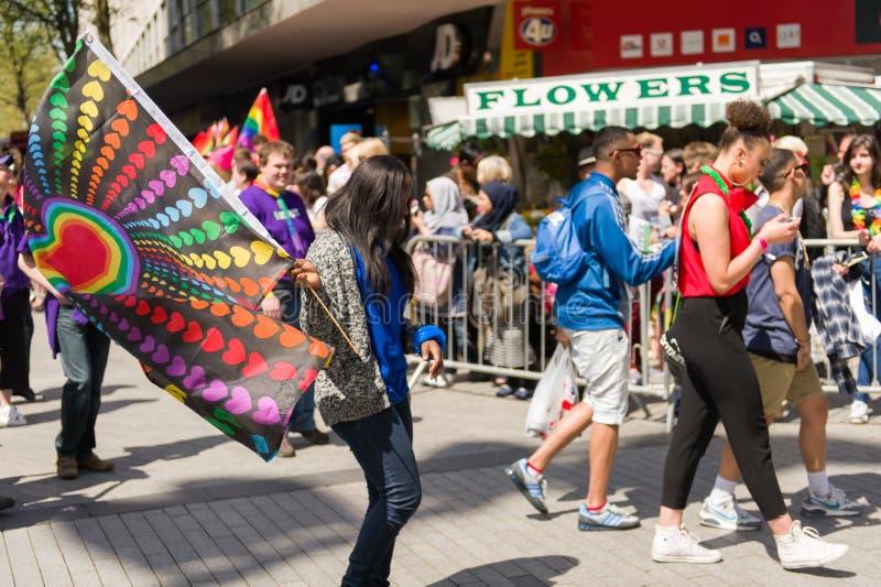 Pride Parade 2013, Birmingham imagen de archivo libre de regalías