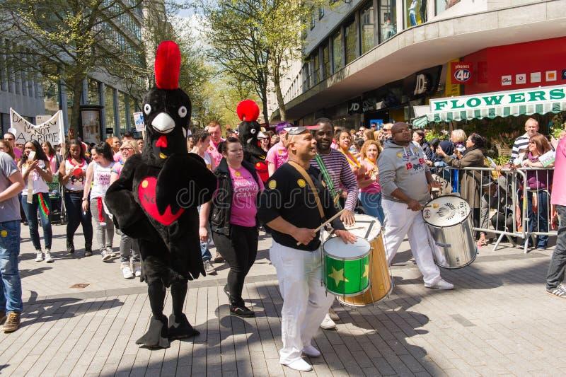 Pride Parade 2013, Birmingham imágenes de archivo libres de regalías