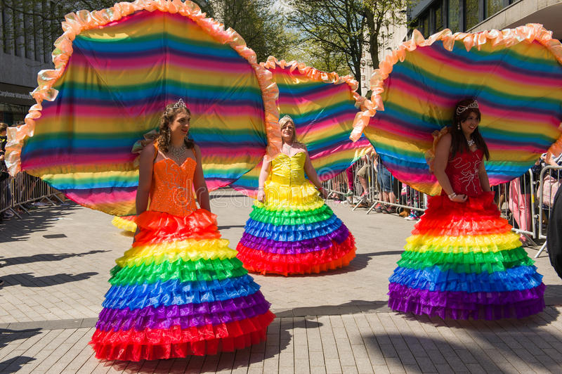 Pride Parade 2013, Birmingham imagen de archivo