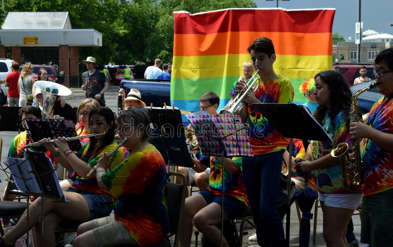 Pride Parade Fayetteville AR 2016 photo stock