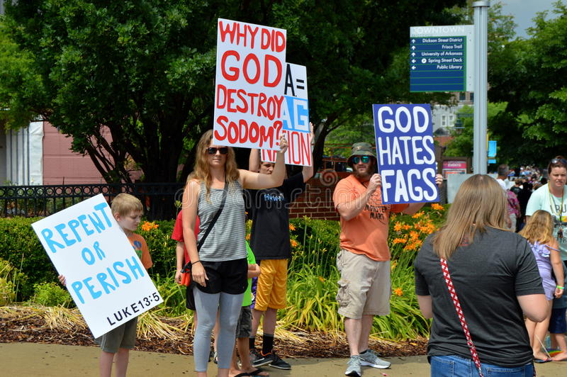 Pride Parade Fayetteville AR 2016 image stock