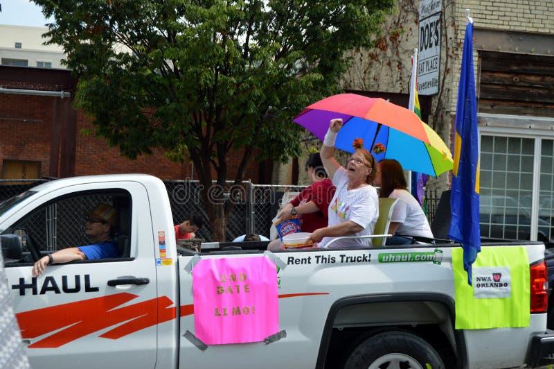 Pride Parade Fayetteville AR 2016 fotos de archivo