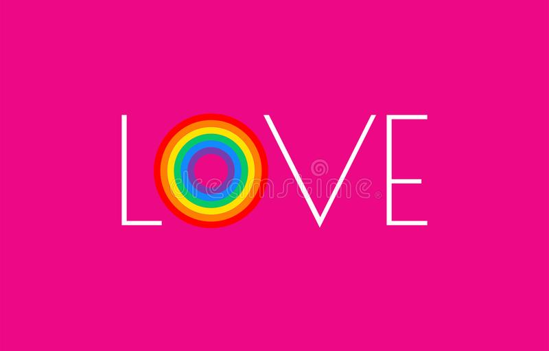 Pride pink background with rainbow flag love parade concept - vector illustration for pride month. Pride pink background with rainbow flag love parade concept stock illustration