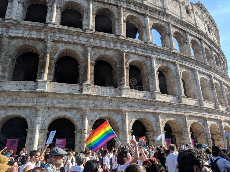 Pride Rome Italy alegre foto de stock