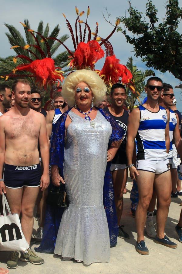 Pride Sitges alegre 2018, Espanha imagens de stock royalty free