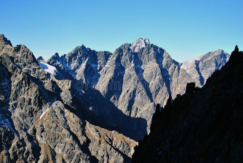 Priecne sedlo, Wysoki Tatras, Sistani fotografia stock