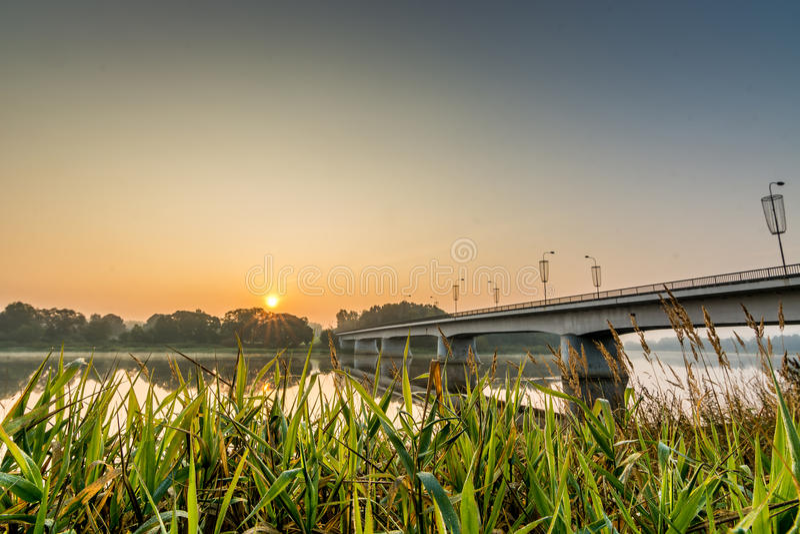Prienai-Brücke stockbild