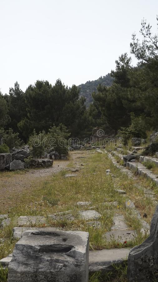 Priene the ancient Greek city royalty free stock photos