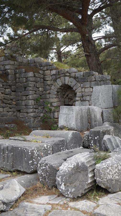 Priene the ancient Greek city stock photo