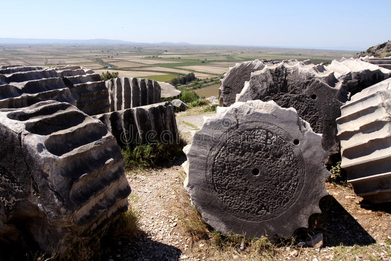 Priene ruins, Turkey royalty free stock photo