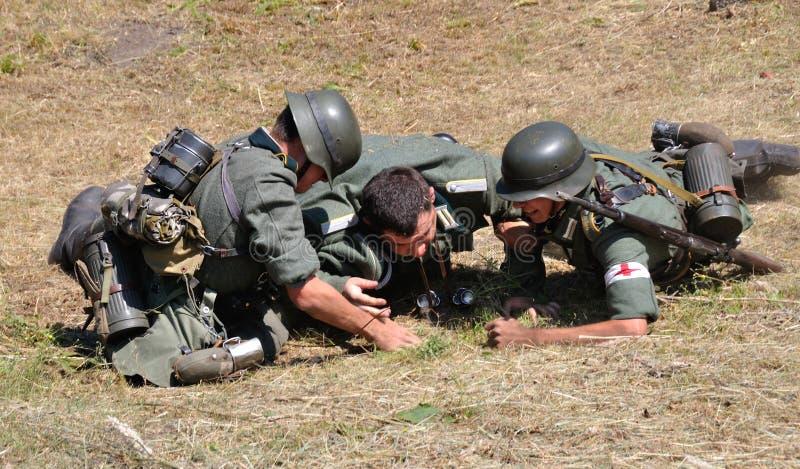 Prier de la guerre photographie stock libre de droits