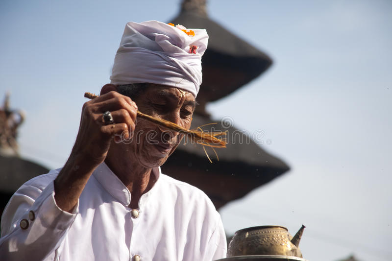 Download Priest blessing editorial photo. Image of balinese, ceremony - 24474506