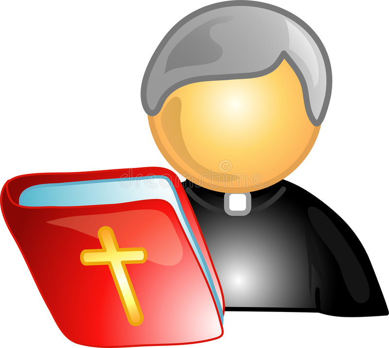Priest career icon or symbol royalty free illustration