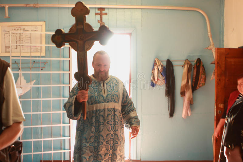 Download The Priest Enters The Church Editorial Stock Photo - Image: 12247633