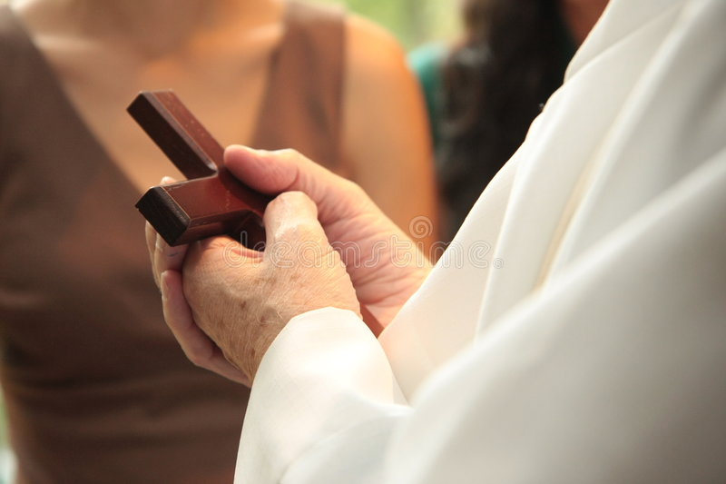 Download Priest Holding Cross In Hands Royalty Free Stock Photo - Image: 6558105