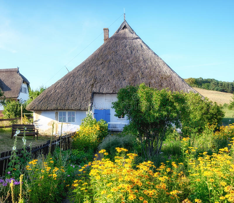 Priest House of Gross Zicker,Rugen Germany stock image