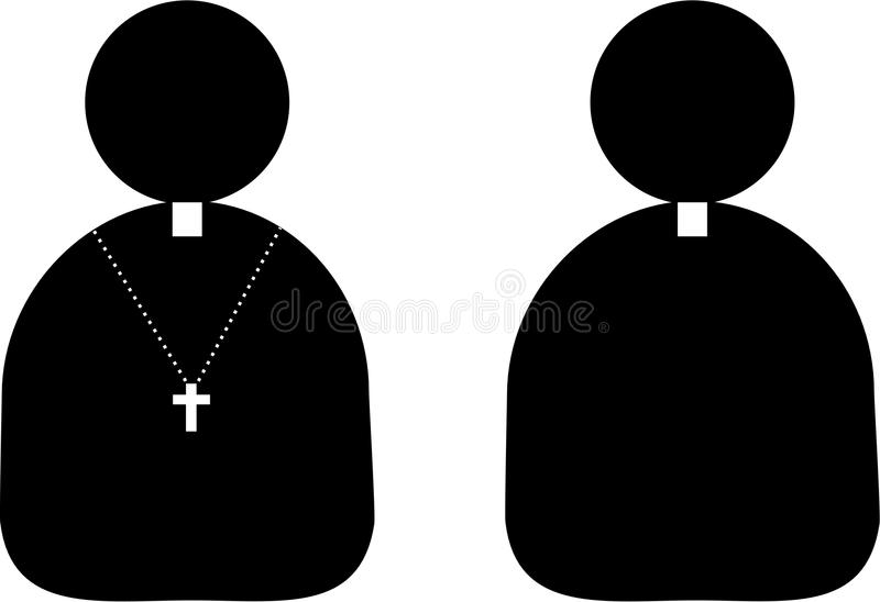 Priest icon royalty free stock images