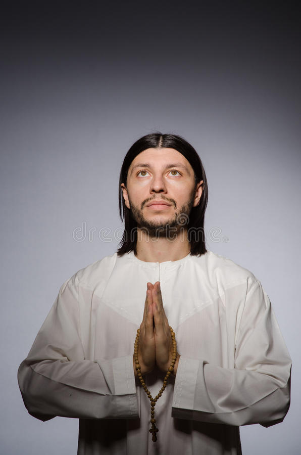 Priest man in religious royalty free stock image