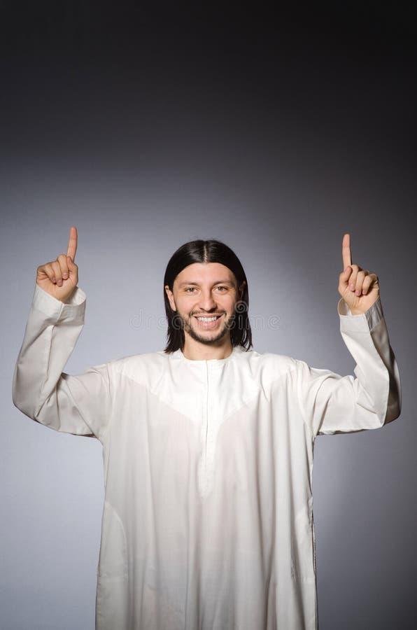 Priest man in religious stock image