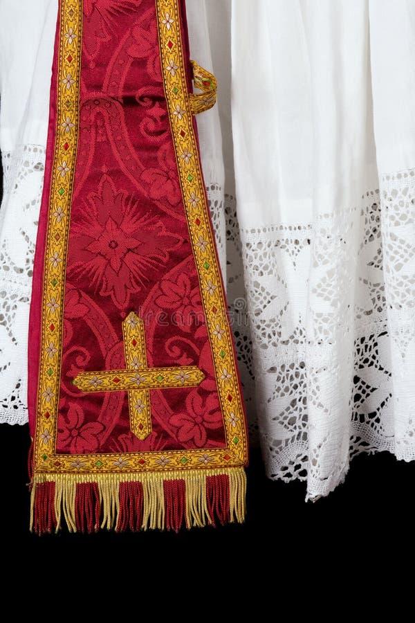 Priest Maniple And Surplice Royalty Free Stock Image