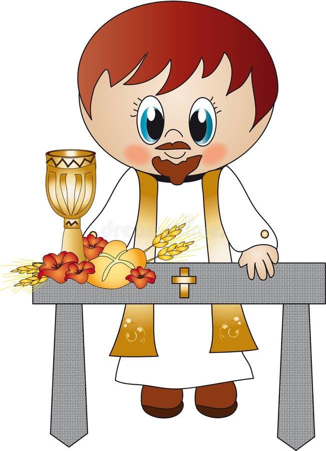 Priester stock illustratie