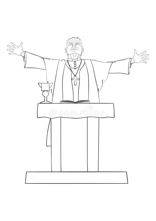 Priester royalty-vrije illustratie