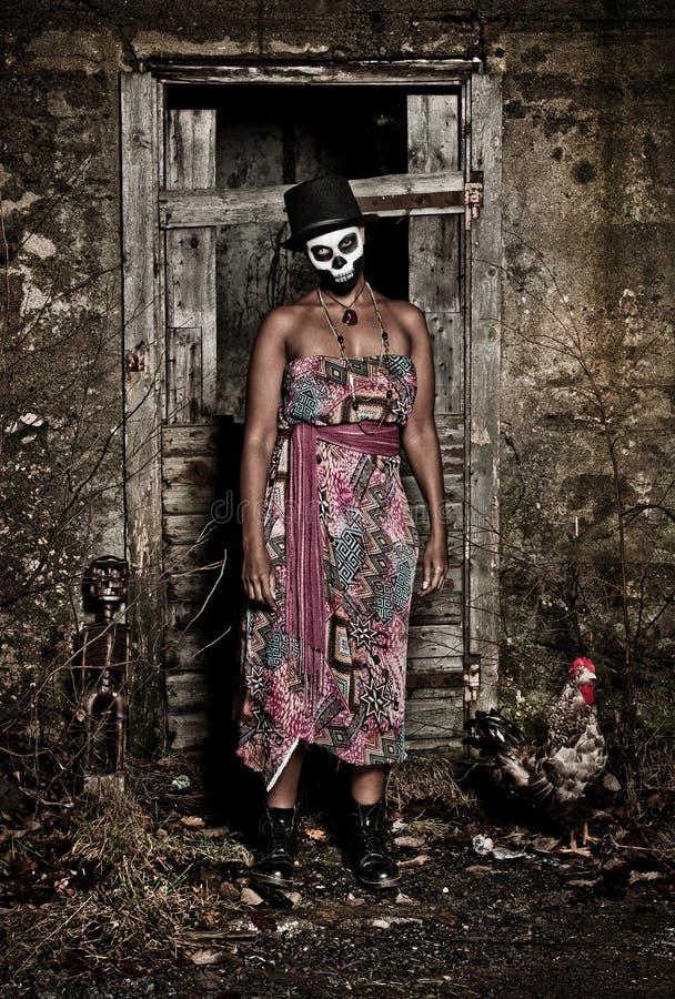 Priestess do Voodoo fotografia de stock