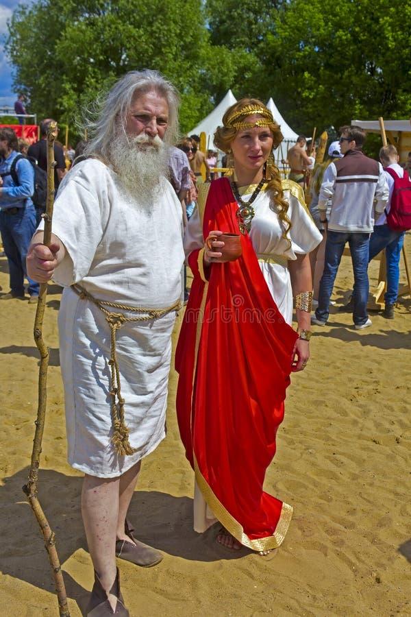 Priestess och filosof royaltyfri fotografi