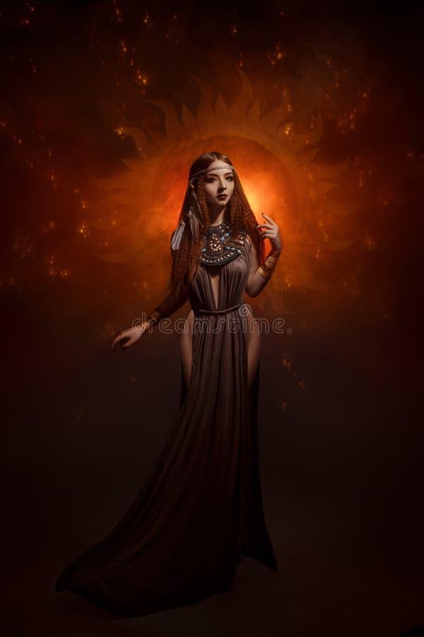 Priestess van de zon royalty-vrije stock afbeelding