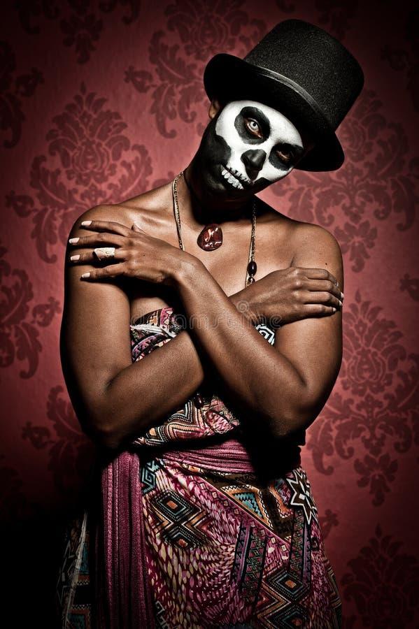 Priestess van het voodoo royalty-vrije stock afbeelding