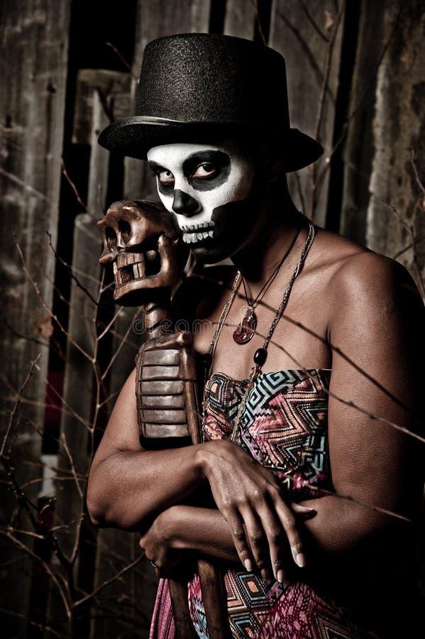 Priestess van het voodoo royalty-vrije stock afbeeldingen